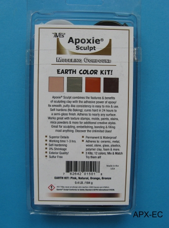 Apoxie Sculpt, Earth Color Kit